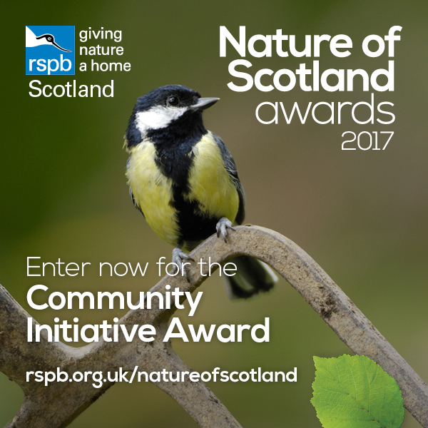 Enter now for the RSPB Community Initiative Award