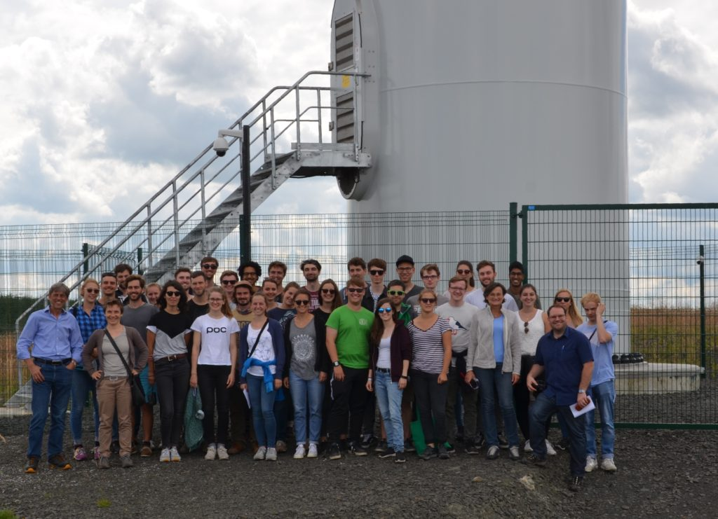 University of Stuttgart Environmental Engineering Students at Turbine 1 of GreenPower's Drumduff Wind Farm
