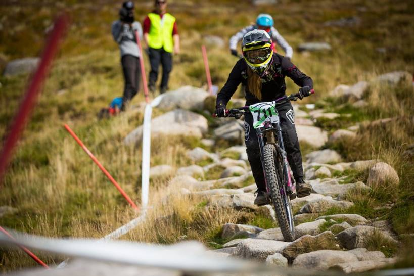 Mikayla Parton in action at Fort William