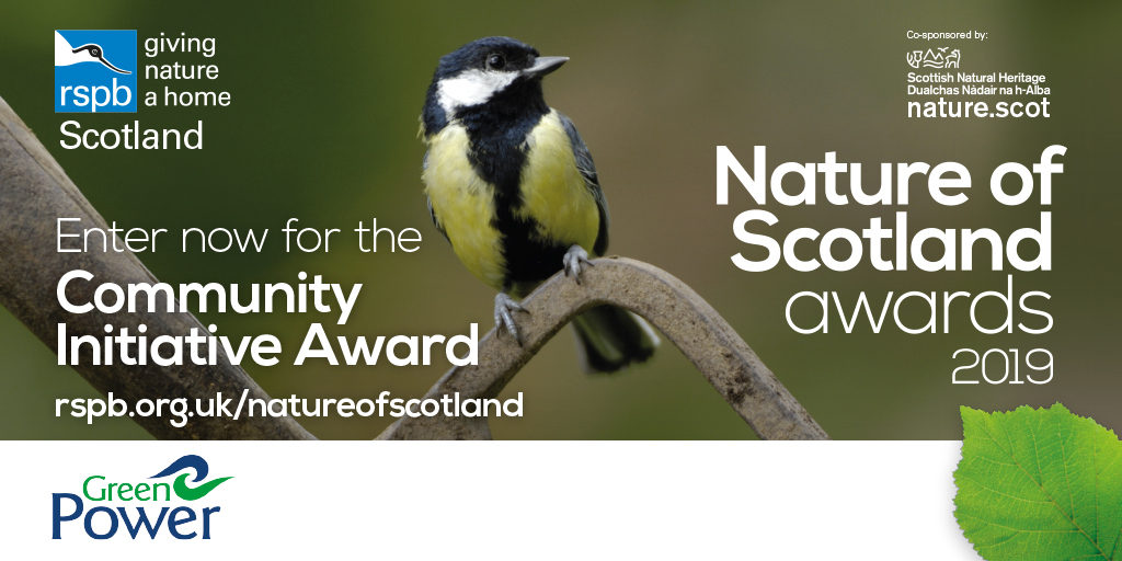 Nature of Scotland Awards 2019 Enter now for the Community Initiative Award sponsored by GreenPower