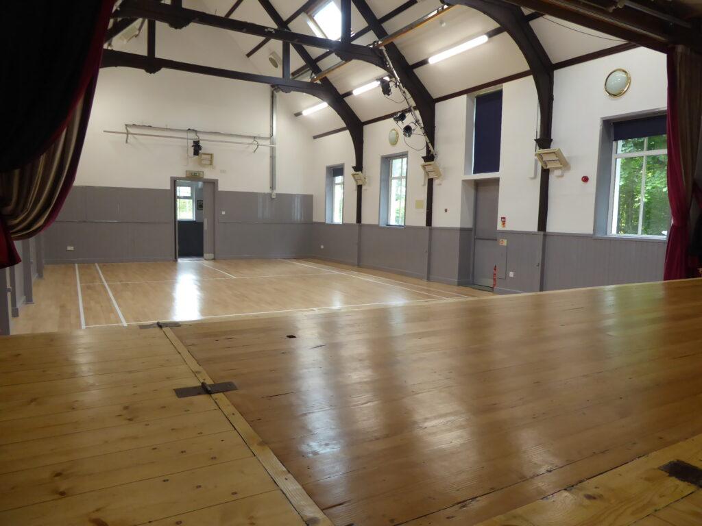 Taynuilt Village Hall resurfaced floor and stage
